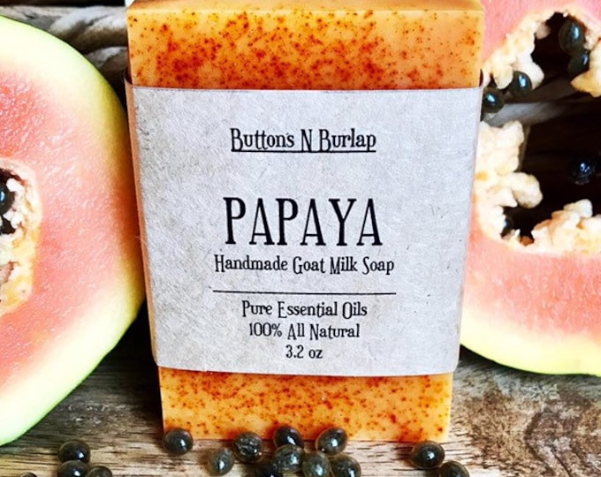 PAPAYA- Organic Goats Milk Soap