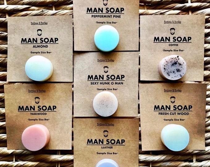 MANSOAP Sample Set of 7- Organic Goats Milk Soap
