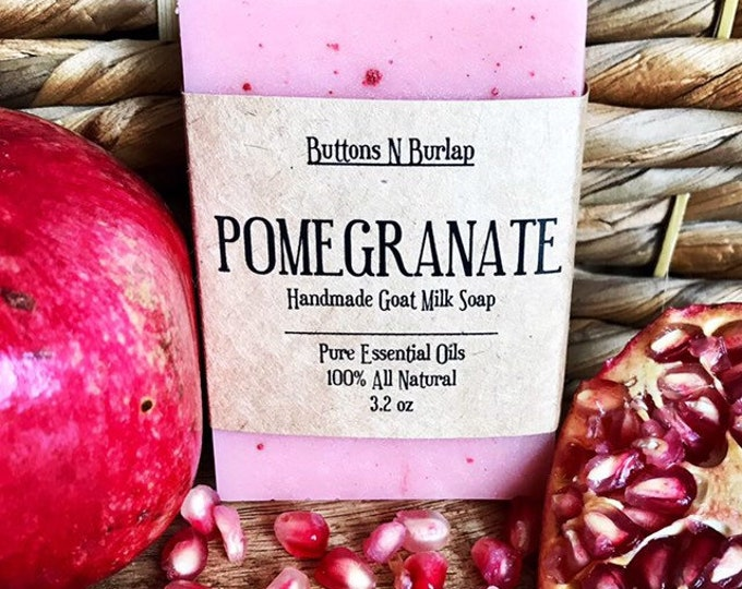 POMEGRANATE- Organic Goats Milk Soap