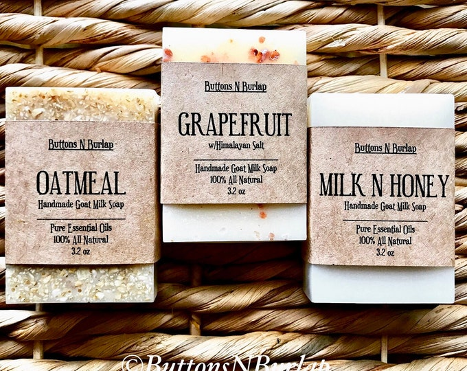 NOURISH SOAP COLLECTION- Oatmeal, Milk N Honey, and Grapefruit