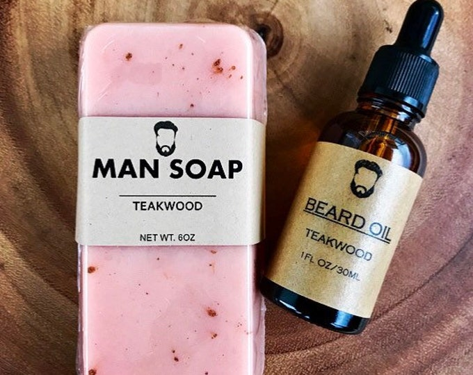 TEAKWOOD Gift Set- MANSOAP/Beard Oil