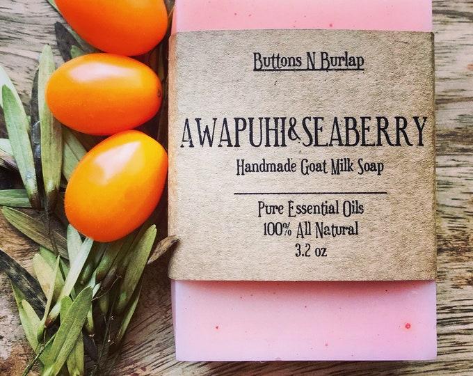 AWAPUHI & SEABERRY- Organic Goats Milk Soap