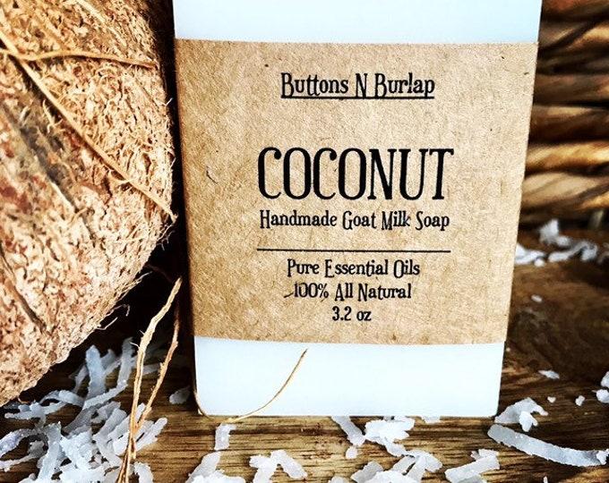 COCONUT- Organic Goats Milk Soap