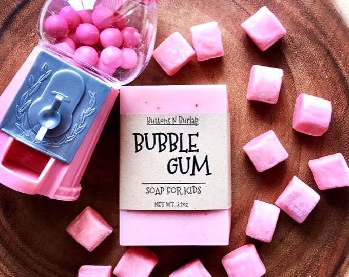 BUBBLE GUM- Soap For Kids