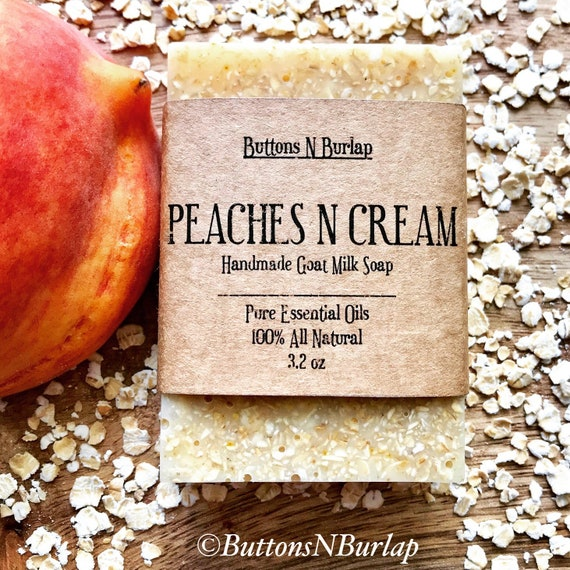 PEACHES N CREAM- Organic Goats Milk Soap