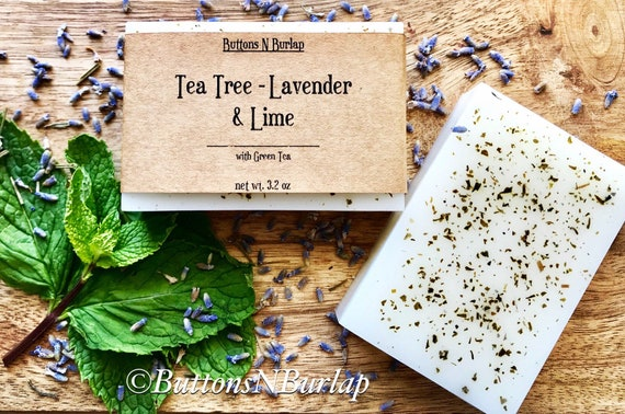 TeaTree/Lavender/Lime- Organic Goats Milk Soap