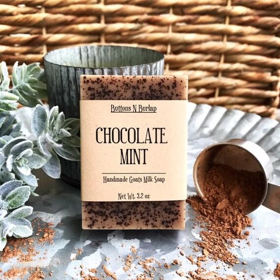 CHOCOLATE MINT- Organic Goats Milk Soap