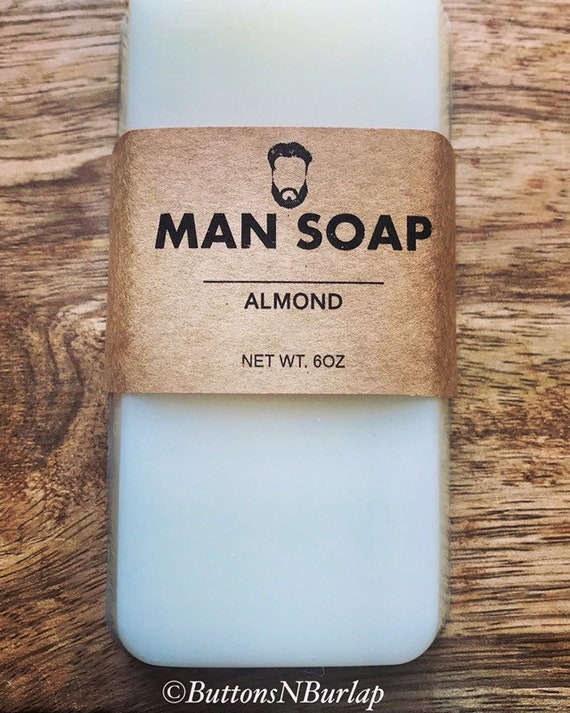 MANSOAP ALMOND- Organic Goats Milk Soap