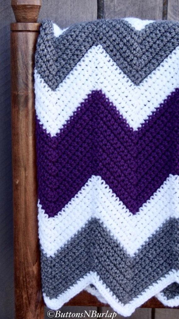 Purple Chevron Baby Blanket