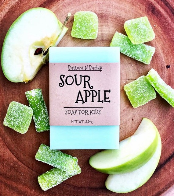 SOUR APPLE- Soap For Kids