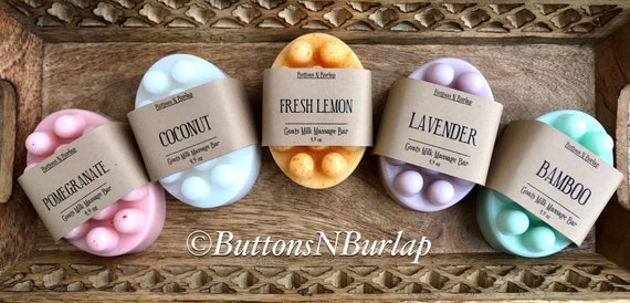 MASSAGE BAR SOAP- Available in 5 Scents