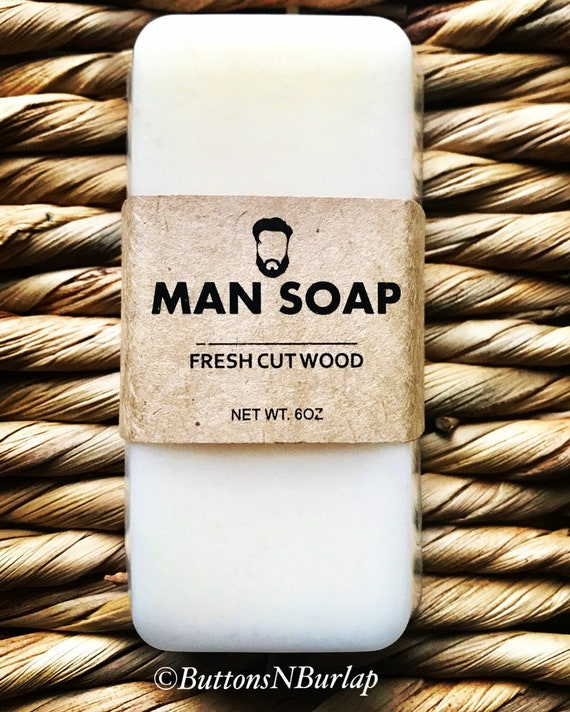 MANSOAP Fresh Cut Wood- Organic Goats Milk Soap