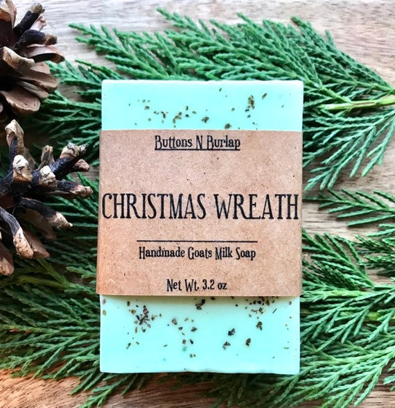 CHRISTMAS WREATH Soap- Organic Goats Milk Soap