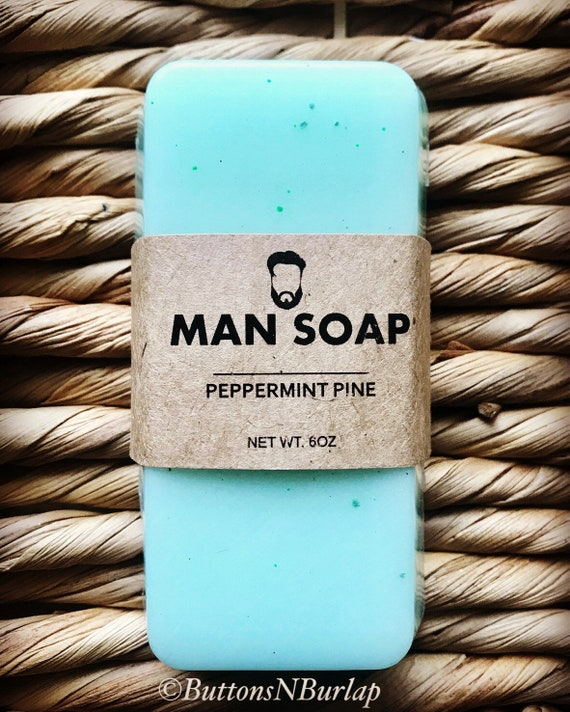 MANSOAP Peppermint Pine- Organic Goats Milk Soap