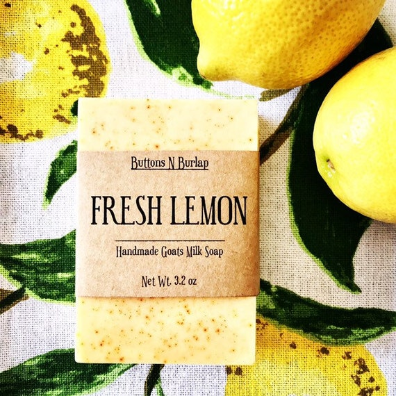 FRESH LEMON- Organic Goats Milk Soap