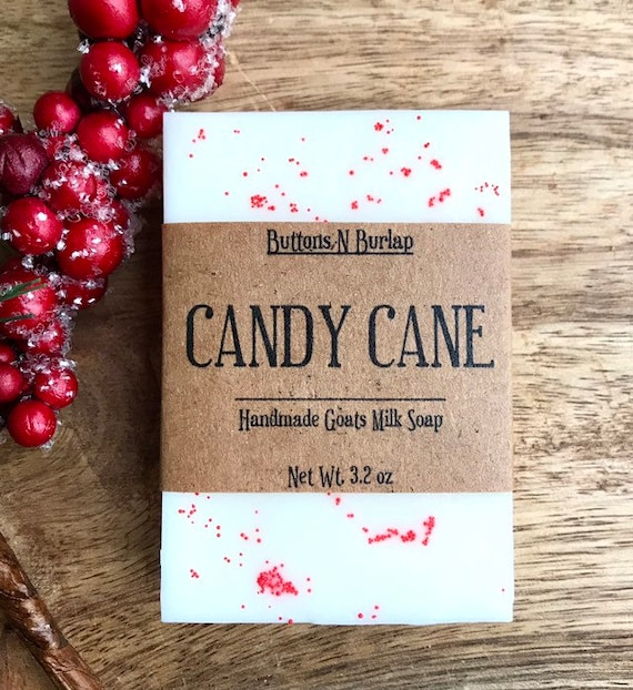 CANDY CANE Soap- Organic Goats Milk Soap