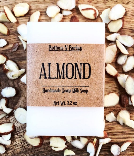 ALMOND- Organic Goats Milk Soap