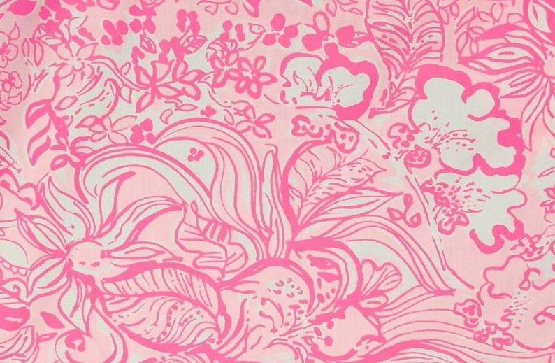 9274bb084c66e5 NEW SPRING 2019 Lilly Pulitzer Fabric 18 x 18   Etsy