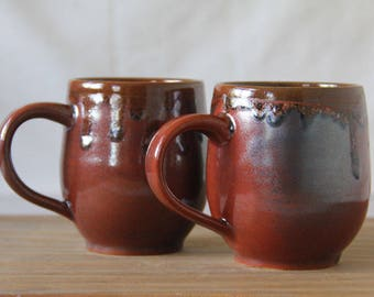 The Coffee Cup- Mug- tea cup for those who love tea - cup with handle - Cinammon Red