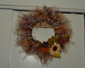 Fall/Autumn Tulle Wreath