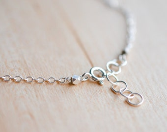 Sterling Silver Chain Necklace // Plain Silver Necklace // Add your Own Charm // Plain Sterling Silver Chain // Choose Your Length