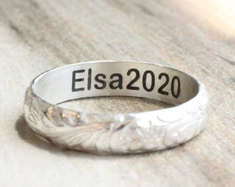 Custom Ring Engraving ONLY // Inside Ring Engraving // Pesonalized Name or Date Engraving // ENGRAVING ONLY ring not included