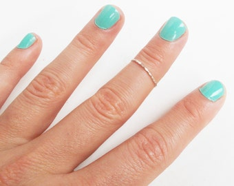 One Sterling Silver Knuckle Ring - Stackable