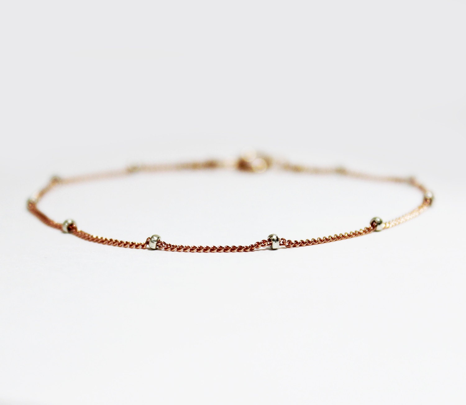 8eecf8be54bf5 Rose Gold Plated Sterling Silver Stacking Bracelet - Bridesmaids Gift ...