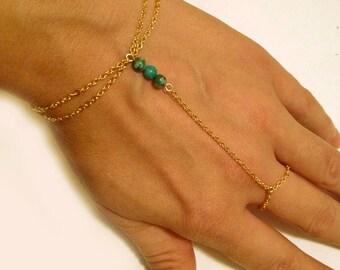 Slave Bracelet Hand Chain Delicate 14k Gold Filled Chain