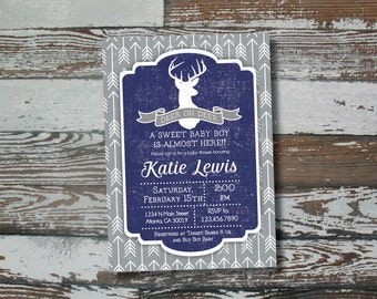Los ciervos Oh ciervo bebé ducha invitación - para imprimir