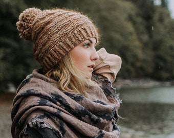 KNITTING PATTERN | Tamitik - Chunky Hat Slouchy Bulky Easy Super Quick Textured Beginner Beanie West Coast Toque - PDF