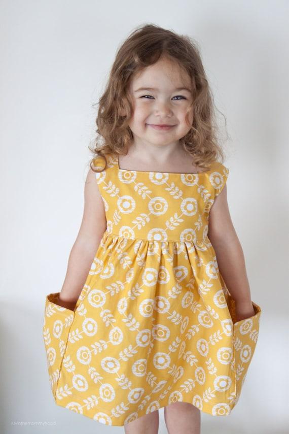 Sally Kleid nähen Muster Jahrgang moderne Taschen-grosser