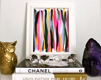 """Custom Original Abstract Painting - """"LINE22"""" of your Choice Colors"""
