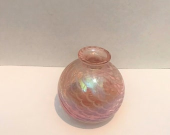 Royal Limited Iridescent Glass Bottle/ Vase, Vintage