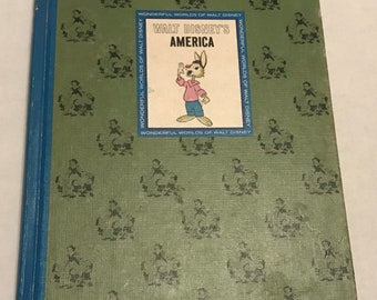 Walt Disney's America Vintage Hardcover Children's Book, Copyright 1965