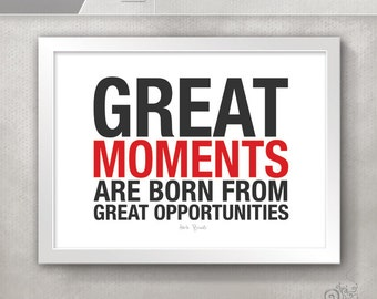 Great Moments Hockey Quote / Hockey Players Gift / Hockey Team / Coach Herb  Brooks /