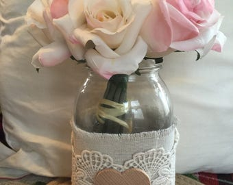 10 Rustic wedding centerpiece vase barn country wedding  flower vase