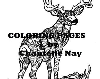 Popular Items For Deer Coloring Page 224 Results Lumberjack Printable And Activity Sheets Pack