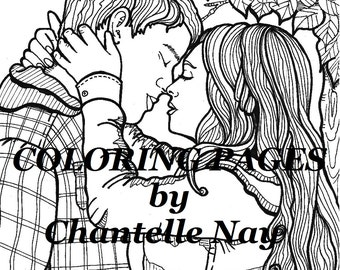 couple coloring pages Unicorns Coloring page adult coloring picture digital | Etsy couple coloring pages