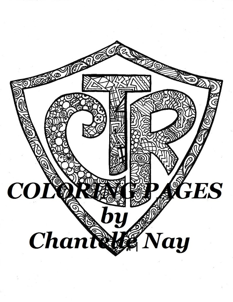 Coloring Page Ctr Lds Art Adult Coloring Picture Digital Etsy