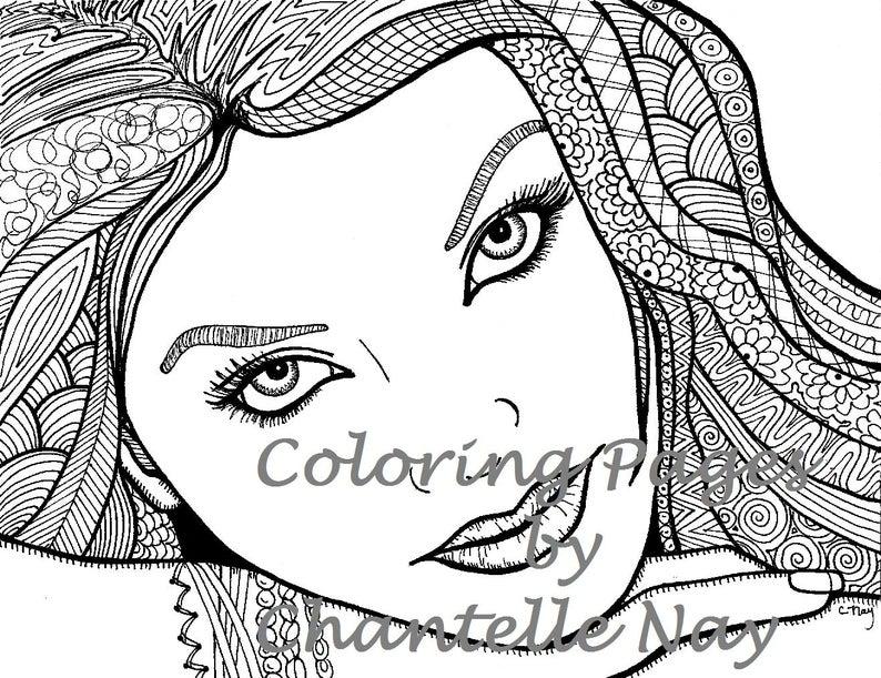 gesicht von der seite malvorlage  coloring and malvorlagan
