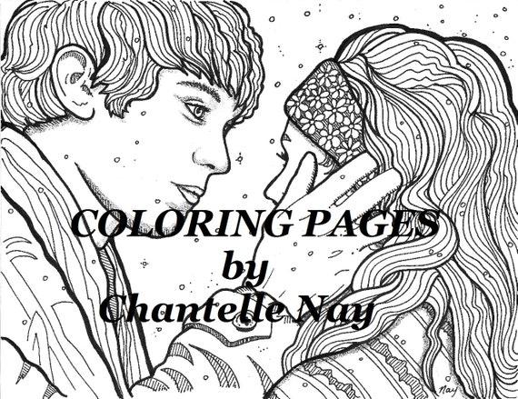 Colorear página imagen para colorear adultos descarga | Etsy
