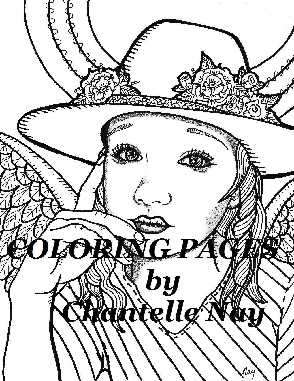 engel kleurplaten pagina vrouw gezicht volwassen