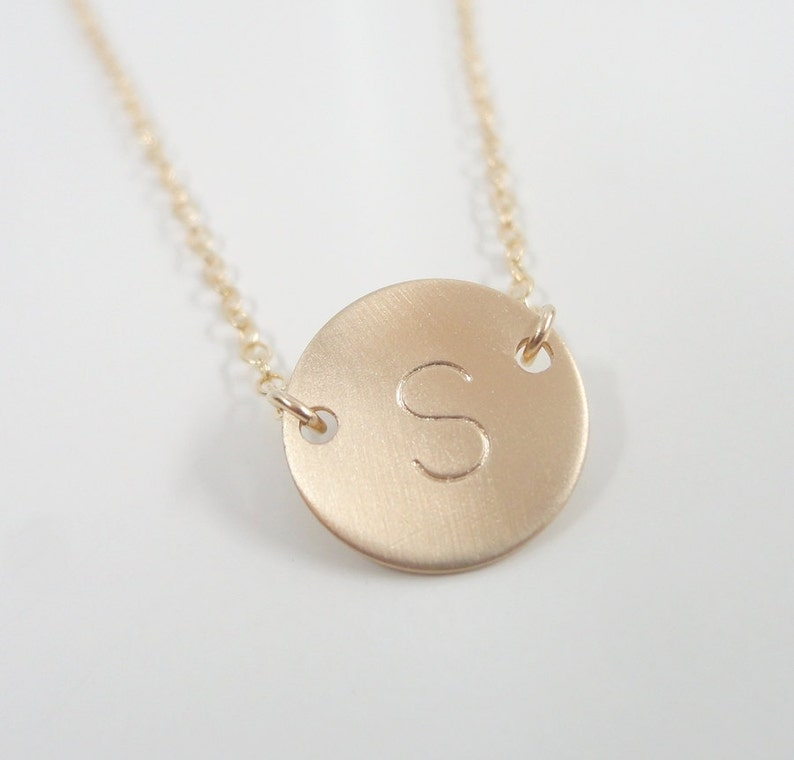 Tiny 14k Gold-Filled Initial Necklace Celebrity-Style image 0