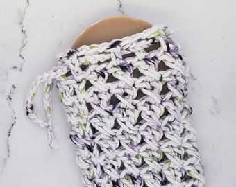 Cotton Soap Saver - Purple and Green