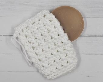 Cotton Soap Saver - White
