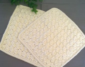 Handcrafted Cotton Washcloth in your choice of color - Soft Cotton Wash Cloths - Cotton Facecloth - Skincare