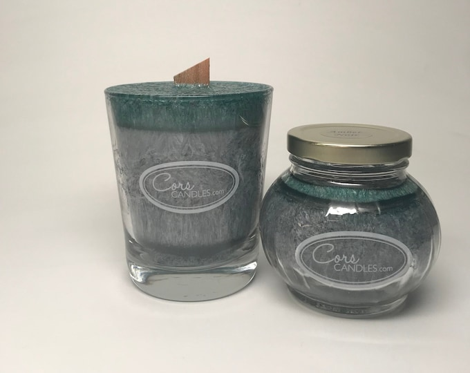 Vegan wax set of Glass Candles