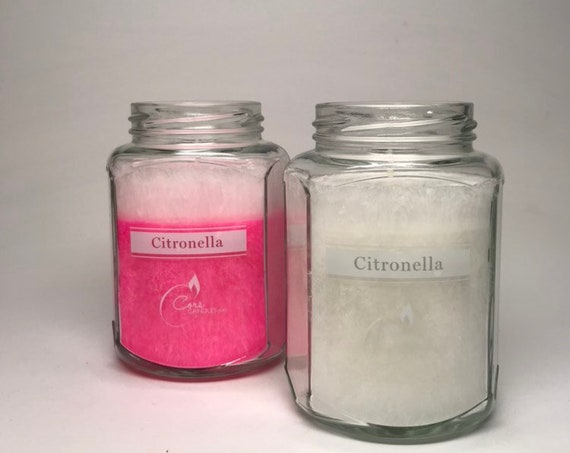 Pink and White Citronella Candles (set of 2)