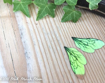"""Tiny 'Micro' Bee wings for craft, 1"""" iridescent transparent insect wings for crafting, for felting, collage, jewellery making and art dolls"""